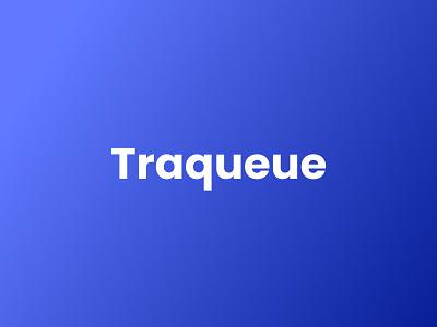 Traqueue Logo minimal web typography vector color design logo gradients ui branding