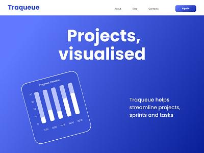 Taqueue Landing page web design design web blue brand identity software design ux ui landing page minimal gradients color branding