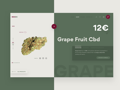 Legal Weed Shop marketplace green ui ux product e-commerce ecommerce shop weed