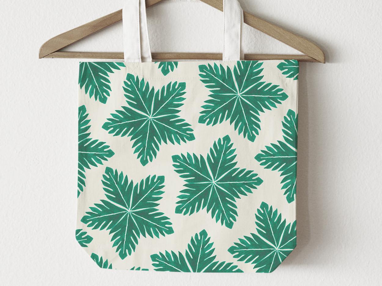 Royal Jamaica (breadfruit print) watercolor textile print textile pattern surface pattern surface design illustration print design