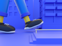 Walk 🚶‍♂️ branding design identity branding icon shoes interface illustration design animation ui 3d