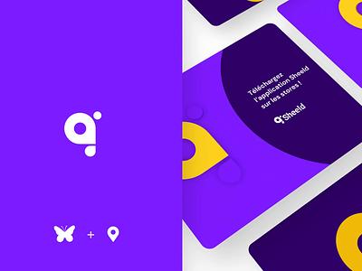 Sheeld app identity 🦋 ios butterfly aftereffect icon branding logo illustration app animation ui