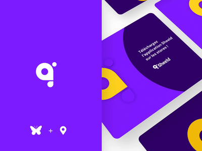 Sheeld app identity 🦋 ios butterfly aftereffect icon branding logo illustration app animation ui