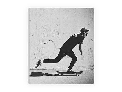 Skateboarder illustration 🛹 photoshop art character procreate black  white multicolor ui 3d illustration skate