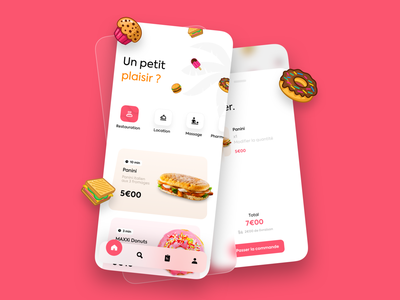 Food App 🍔 mobile appdesign icon 3d iphone illustration branding interface ux ui ios app food