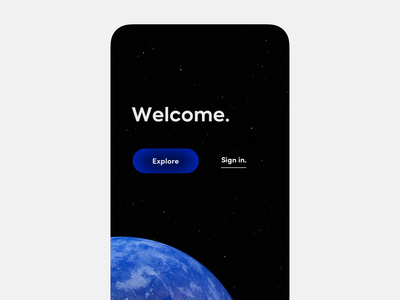 Earth app 🌍 2021 space mobile globe earth immersive 3d button ux ios interface app animation ui