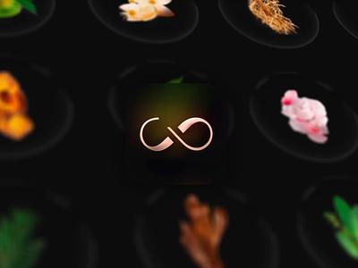 Compoz App icon 1/4 🌹 appdesign ux photography luxury perfume logo design 3d glass branding icon app interface ui