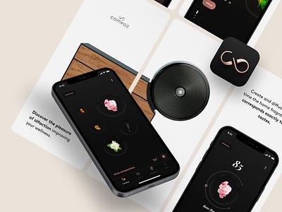 Compoz App Store Screenshots 4/4 🌹 glassmorphism luxe perfume store app design ios mobile apple iphone 3d design branding ux interface app ui