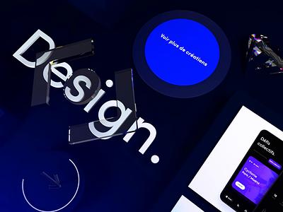 Betomorrow.design website (coming soon) 💎 3d art blue website web illustration button design typography logo 3d branding animation interface ui
