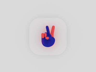 App Icon Hapiic experimentation ✌️ (Branding) appdesign sketch identity iphone ios branding illustration animation octane 3d logo icon app ui