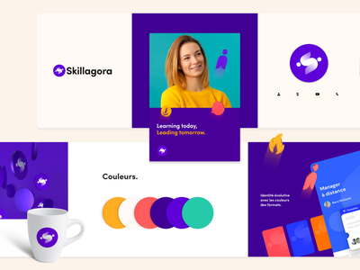 Skillagora stylescape (branding) 🟣 ios charter icons typography color humans brand print stylescape keyvisual mobile 3d logo illustration design branding interface app ui