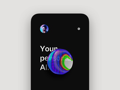 Personal AI app (emotional UI)📱 branding interface app animation artificial intelligence 3d aftereffects iphone button ai design mobile ux ui ios emotional loop trippy