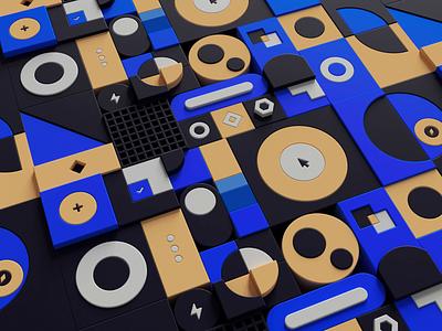 Design system (3D UI animation) 📱 inspiration colors designsystem animation mobile iphone button loop octane 3d illustration branding app interface ui