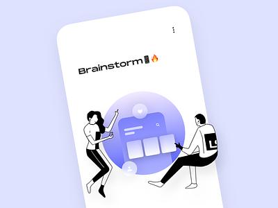 Brainstorm app (Illustration concept) 💙 apple mobile ui brainstorm ux app illustration ios interface branding graphic design