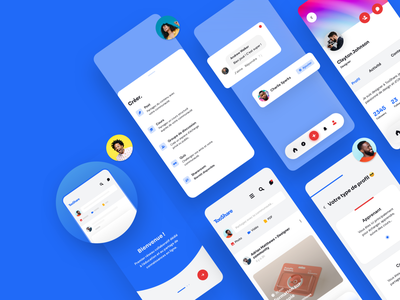 Social network app (TooShare UI/UX) 💙 course profil share android iphone ios branding interface illustration design ux ui app social social network