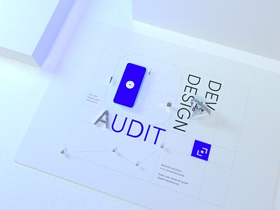 BeTomorrow/Consulting (Keyvisual) 💎 audit diamond interface illustration design logo branding blue consulting app ui octane 3d keyvisual