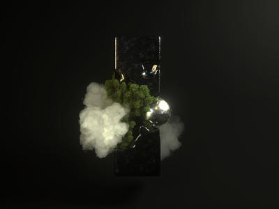3D exploration 🌳☁️ (Octane render) photoshop octane c4d vector design illustration branding graphic design 3d cloud ui