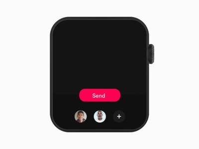 Watch App ios loading photoshop appdesign interface design send animate ui  ux design ui ux ios watch os dailyui