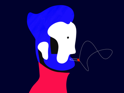 head illustration ✍️ pen experimentation ipad procreate color head illustration