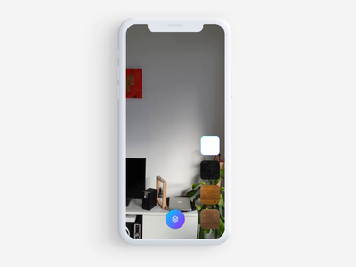 Ar interface experimentation 🤘 buttons menu aftereffects principle interfaces video augmentedreality mobile interface app animation ios button ux ui