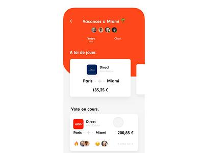 Flight animation ✈️ microinteractions orange iphone scrolling principle button animation interface design ios ux ui