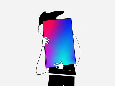 Illustration concept 🔴 photoshop procreate vector typography logo branding ui design illustration gradient