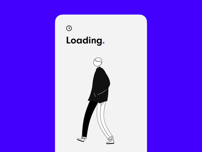 loading screen concept 🔵 character illustration microinteraction loading screen design aftereffects iphone concept loading interface app button animation ux ios ui