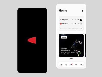 Badminton News Interface 🏸 ux ui design badminton principle transition button slider iphone app animation microinteraction ios interface