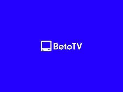 BetoTV 3D concept logo brutalism animation ux ui blue glich interface app concept illustration design