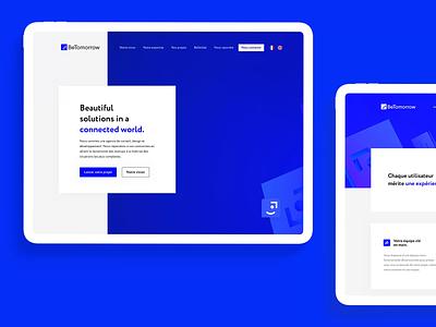 BeTomorrow website 💙 button design 3d website animation logo ux branding app interface ui