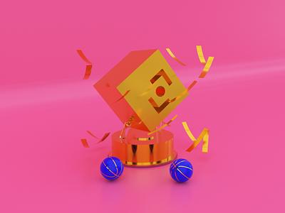 BeTomorrow Trophy. dailyui identity render success trophy branding logo illustration design interface app animation ui