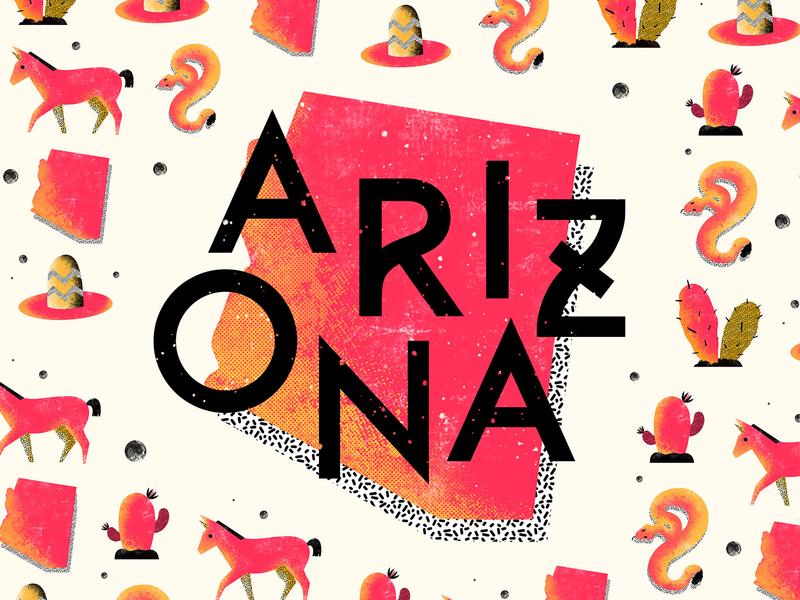 ARIZONA Cactus Beer - Illustration, Design, Animation