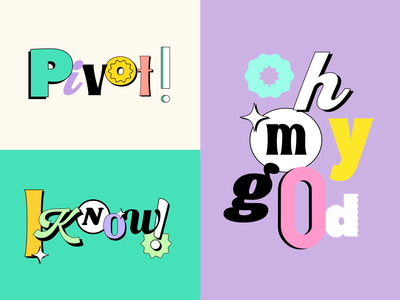 F.R.I.E.N.D.S. TV Show - GIF Stickers 😜 for GIPHY katycreates playful pivot typography animation humour funny fan aftereffects gif animation gif animation typography 90sdesign retro design 90s tv series tvshow friends