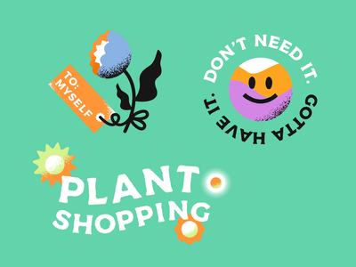 Plant Shopping GIFs - Part 01 🪴 GIPHY & IG Stickers flower illustration humor cute text animation plants after effect giphy stickers giphy sticker gif gif animation stickers fun plant illustration katycreates animation design nature colourful illustration