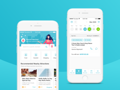 Discover + Booking screen