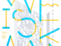 Screen Printing Workshop Poster Fall '13