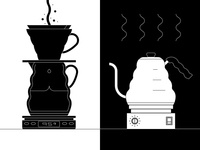 Pour Over Illustration