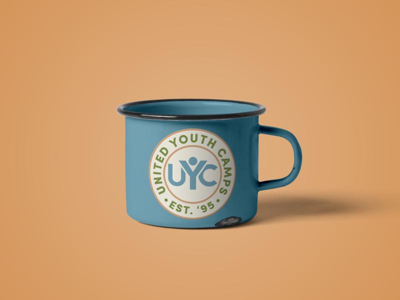 UYC Metal Mug Mockup logo uyc coffee mockup camping metal mug camp badge illustrator