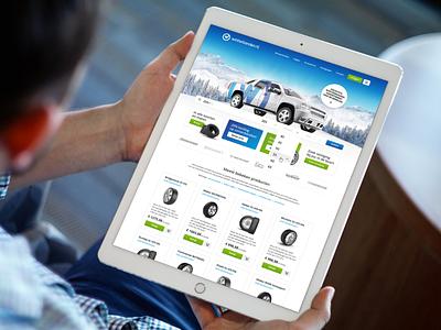Webdesign of Winterbanden.nl identity online responsive desktop phone tablet website uxui webdesign car tires winter