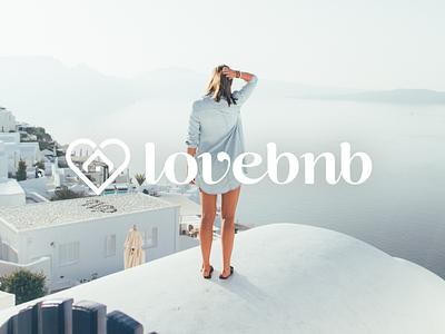 Lovebnb webdesign creative design ui trip stylish luxurious love logo lifestyle europe discover branding bnb beautiful