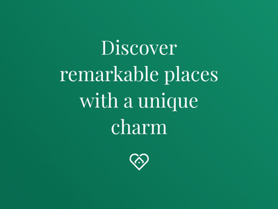 Discover remarkable places webdesign ui trip stylish luxurious love logo lifestyle europe discover design creative branding bnb beautiful
