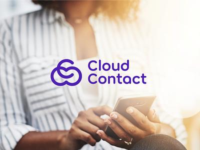 Cloud Contact online management company graphics network contact cloud mobile inspiration corporate branding logo design