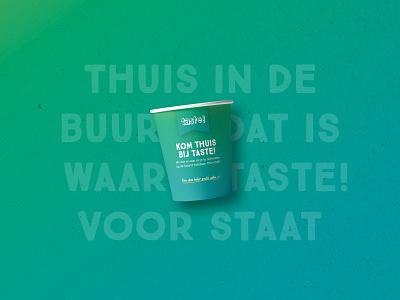 Taste! hope community typography coffee colors identity logo branding creative design