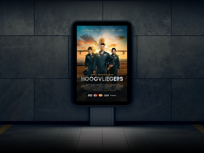 Promotion of Hoogvliegers visual television serie poster plane pilot movie keyvisual graphics film eo design campaign branding