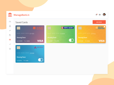 Managebank.In  Saved Cards