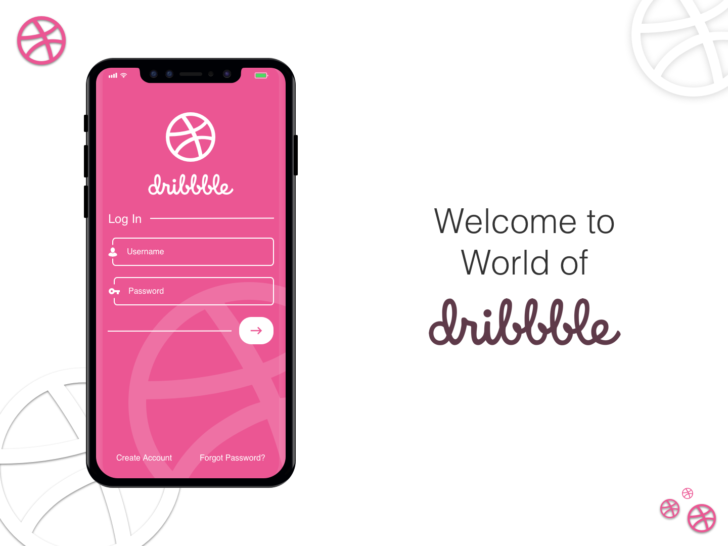 Dribbble Login Screen Design by Devang Dave on Dribbble