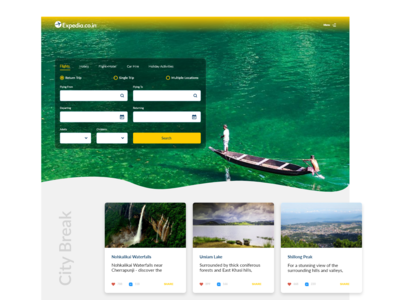 Expedia Website Cover Redesign