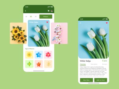 Flower App Ui Design (Rebound Shot)
