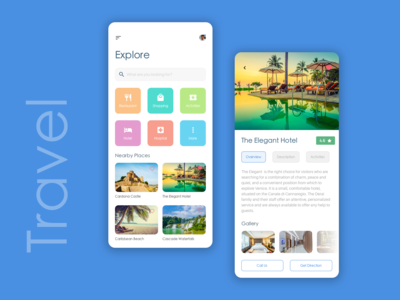 Travel App (Rebound shot)