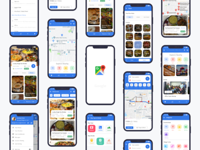 Google Maps Redesign Challenge by Uplabs